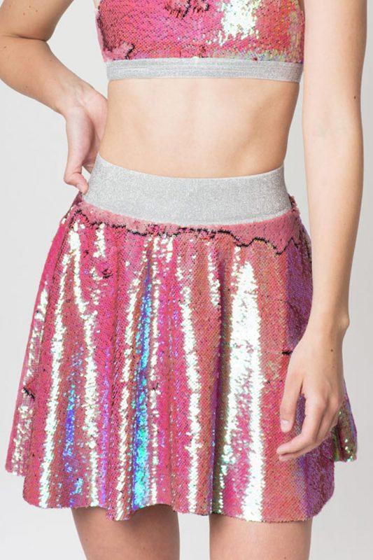 Double Sequin Skater Skirt